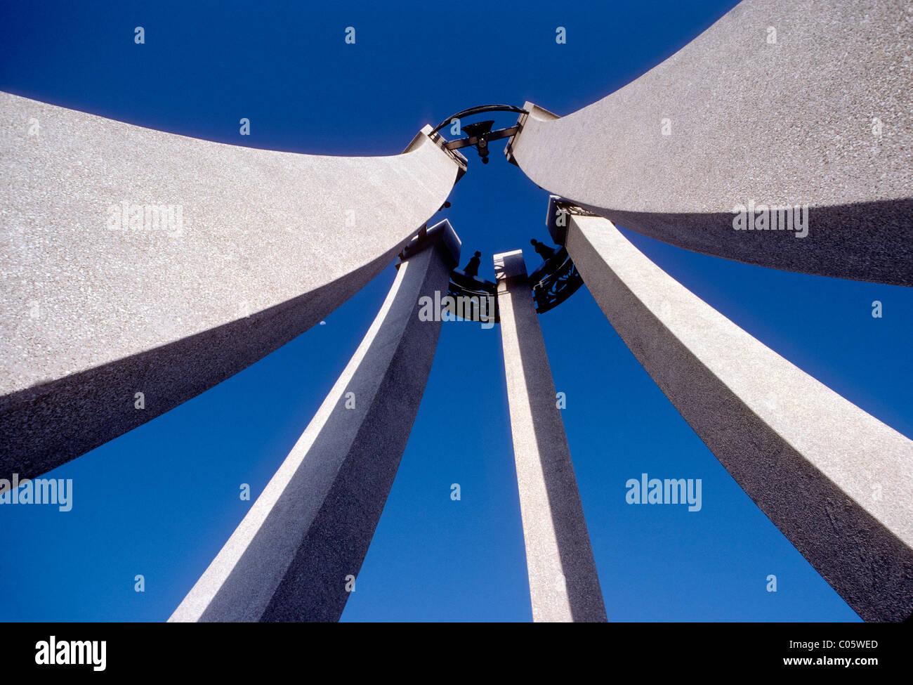 Monument at Garden of the Gods park, Colorado Springs, Colorado, USA - Stock Image