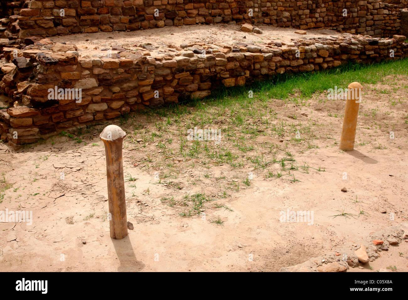 Ruins of Harappan civilisation at Dholavira, Gujarat,india - Stock Image