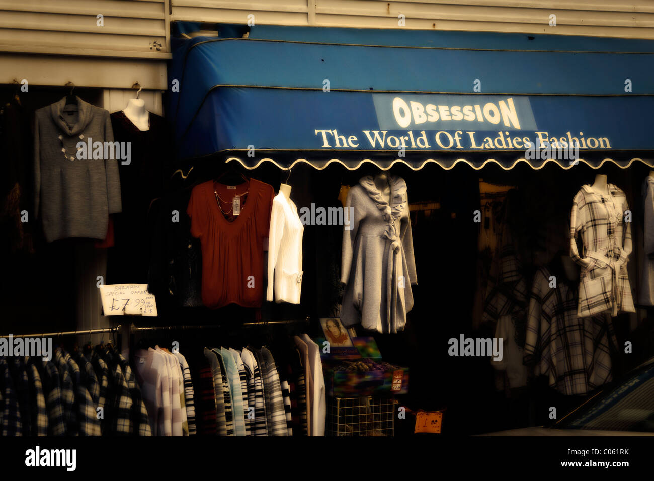 Obsession, Woman's fashion store in Blackpool - Stock Image