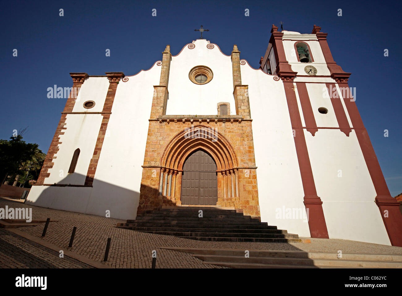 The Cathedral of Silves in the hinterland of the Algarve, Portugal, Europe - Stock Image
