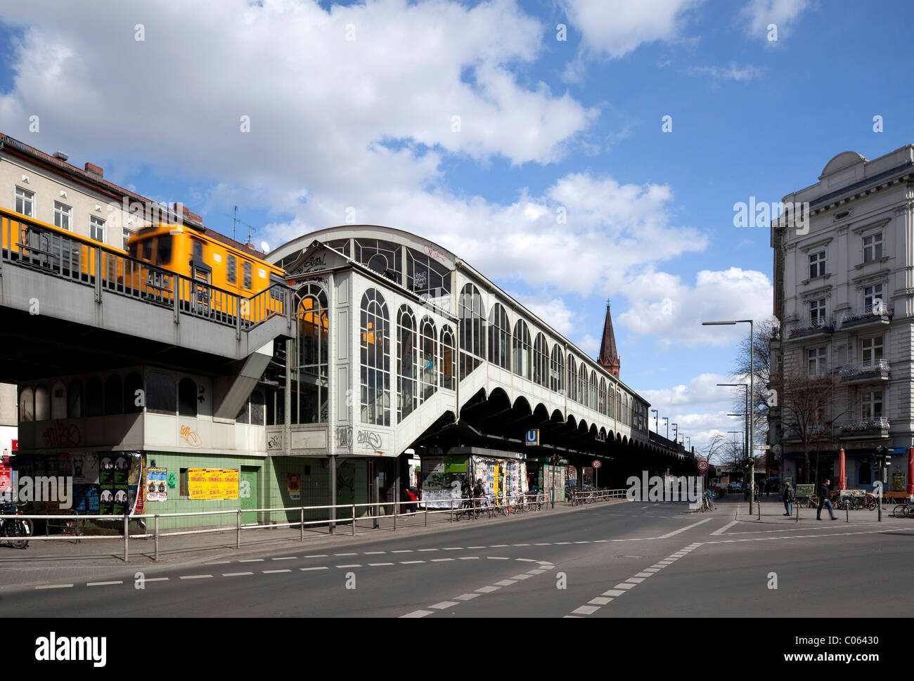 Goerlitzer Bahnhof metro station, Kreuzberg, Berlin, Germany, Europe - Stock Image