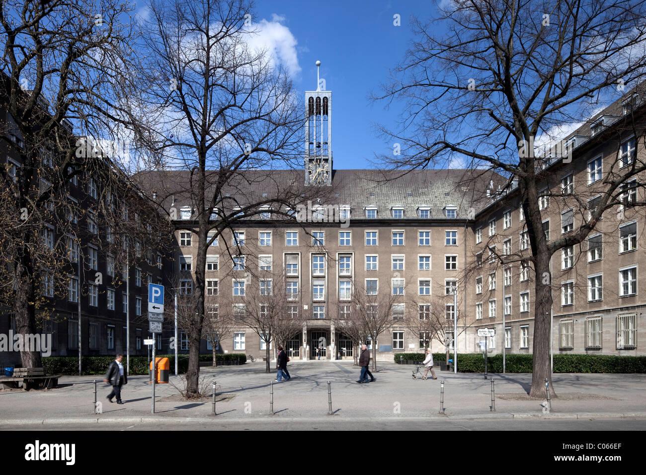 Town Hall Tiergarten, Moabit, Berlin, Germany, Europe - Stock Image