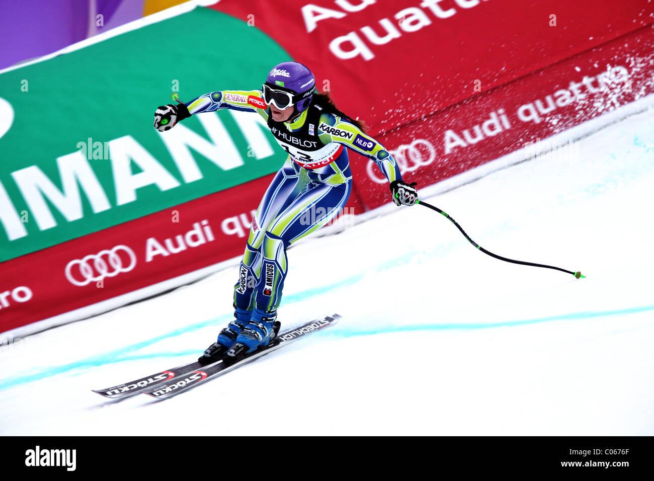 Tina Maze (SLO) at the FIS Alpine World Ski Championships 2011 in Garmisch-Partenkirchen - Stock Image