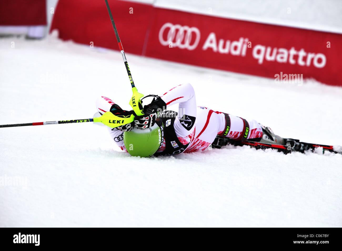 Anna Fenninger (AUT) at the FIS Alpine World Ski Championships 2011 in Garmisch-Partenkirchen - Stock Image