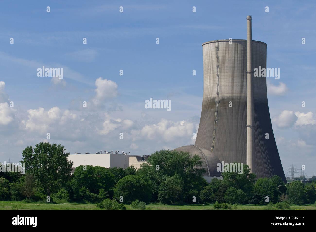 Nuclear power plant Muehlheim Kaerlich being dismantled, operator RWE Power AG, Rhineland-Palatinate, Germany, Europe - Stock Image