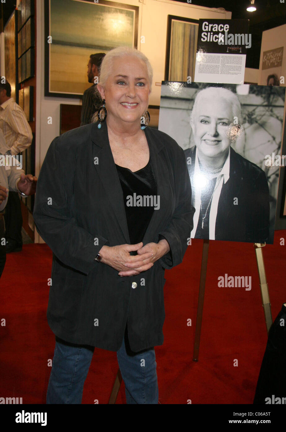 Grace Slick American singer and songwriter, exhibits her paintings and artwork at Mandalay Bay Hotel and Casino Stock Photo
