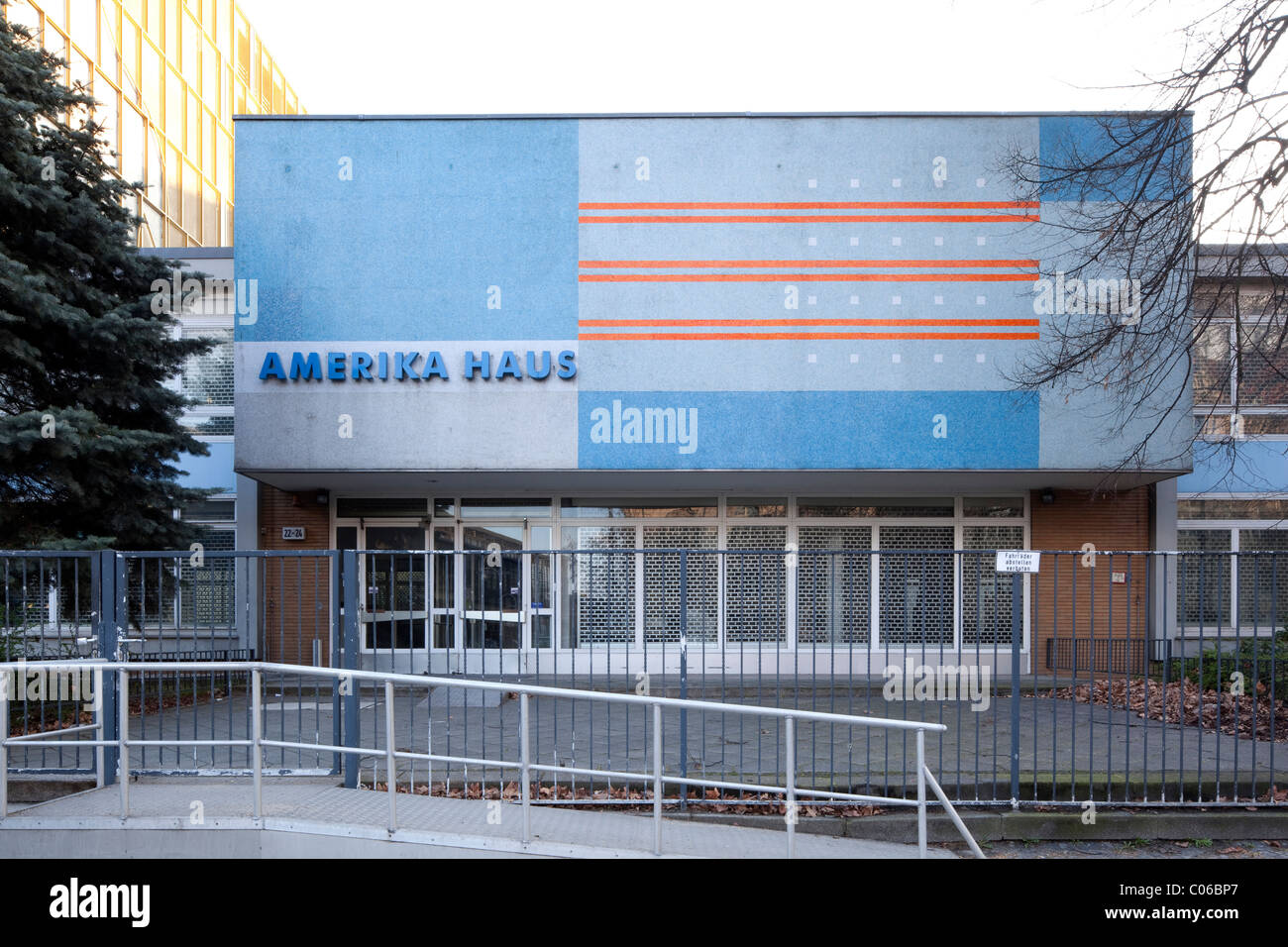 Amerika Haus, a cultural center of the USA, Charlottenburg district, Berlin, Germany, Europe - Stock Image