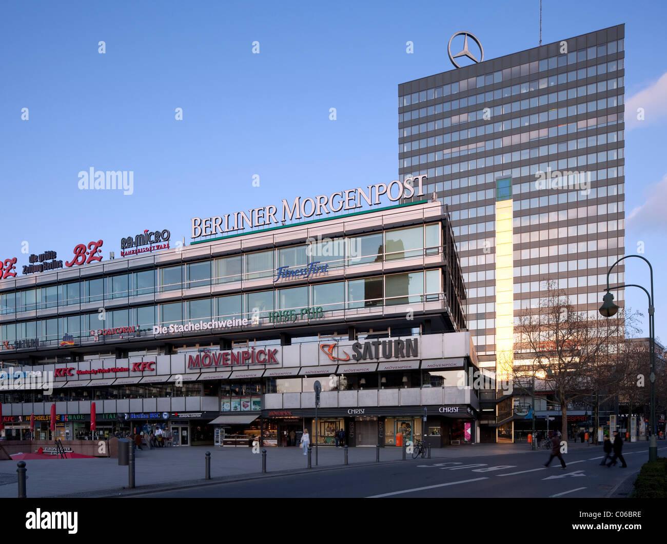 Europa Center shopping mall, Charlottenburg district, Berlin, Germany, Europe - Stock Image