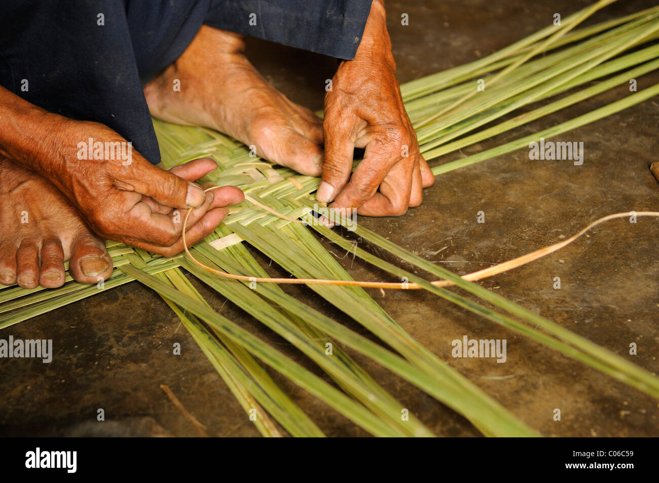 Basket-weaving, Vietnam, Asia - Stock Image