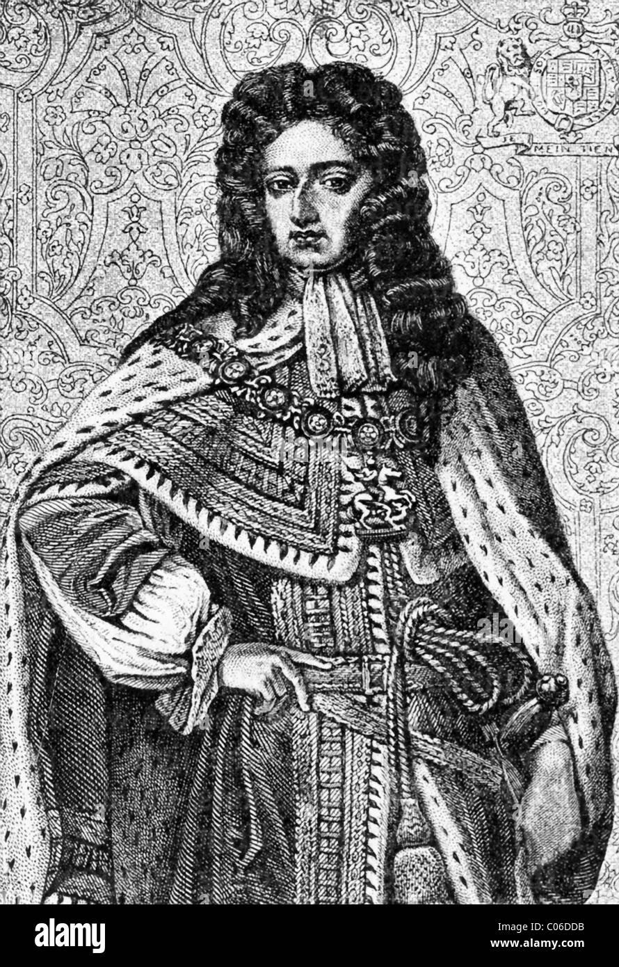 William III of England (1650-1702) was king of England, Scotland, and Ireland (1689-1702). - Stock Image