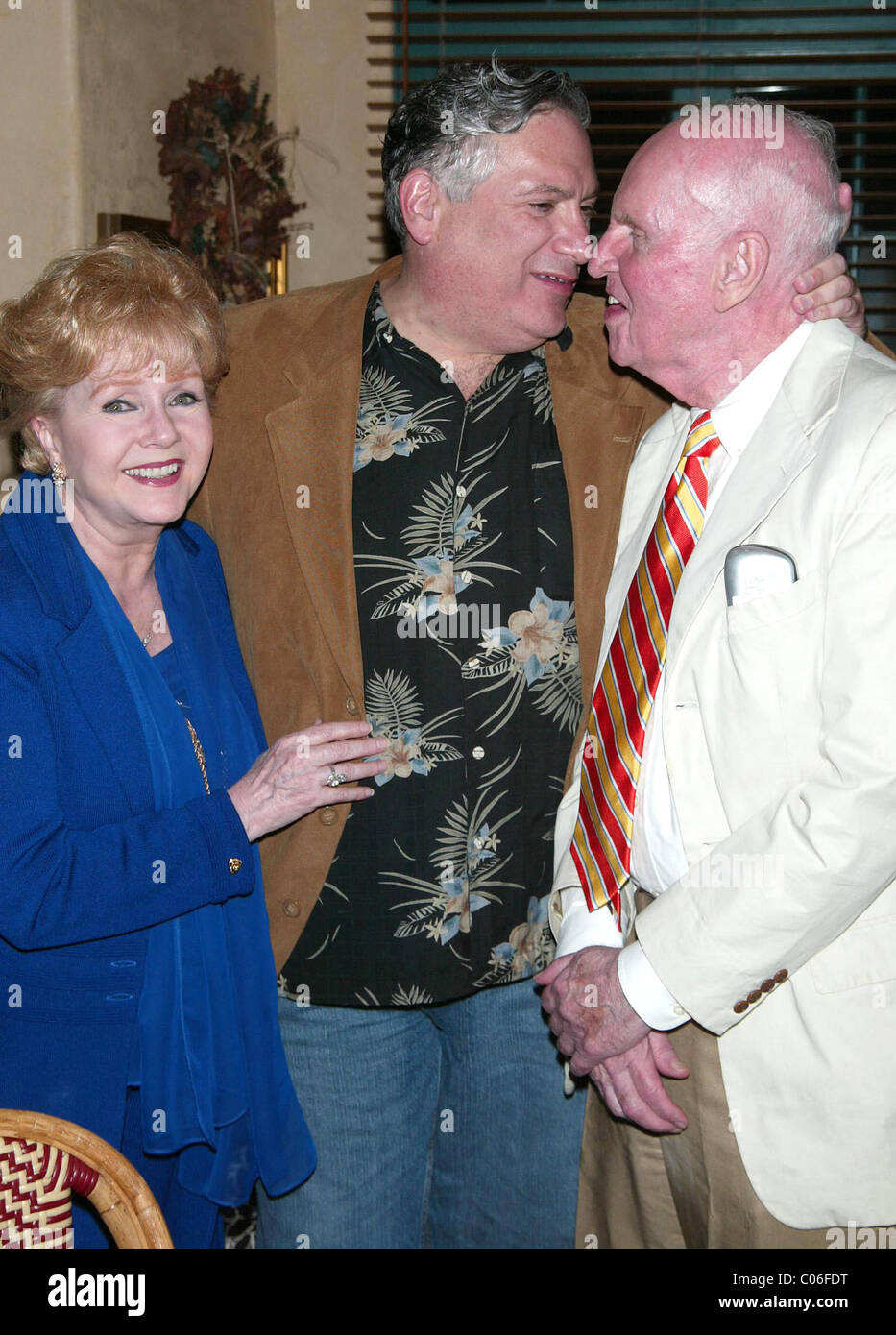 Debbie Reynolds, Harvey Fierstein and George Furth Opening night after party for the new musical ' A Catered - Stock Image