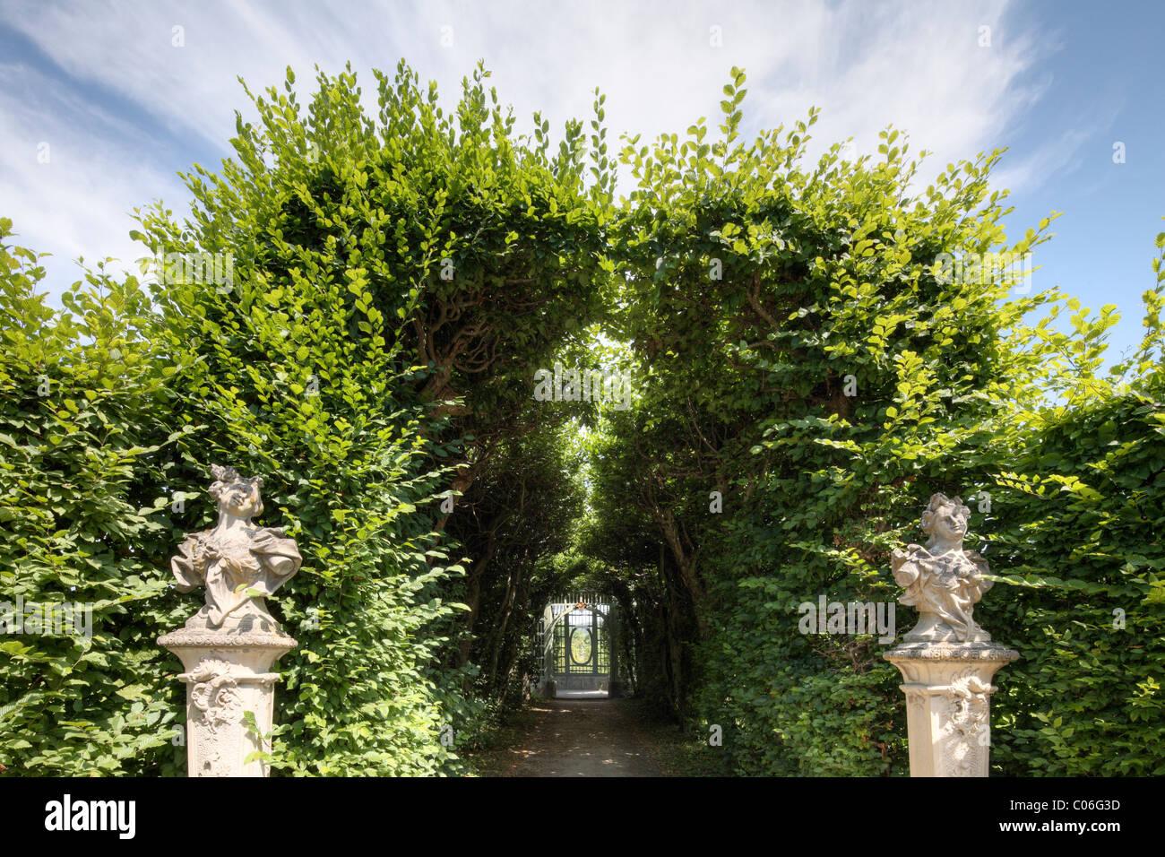 Rococo garden in Veitshoechheim, Main-Franconia region, Lower Franconia, Franconia, Bavaria, Germany, Europe - Stock Image