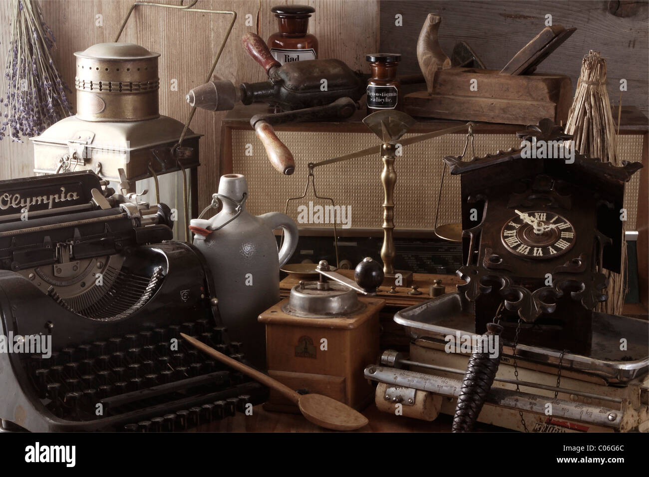 Collection of antiques - Stock Image