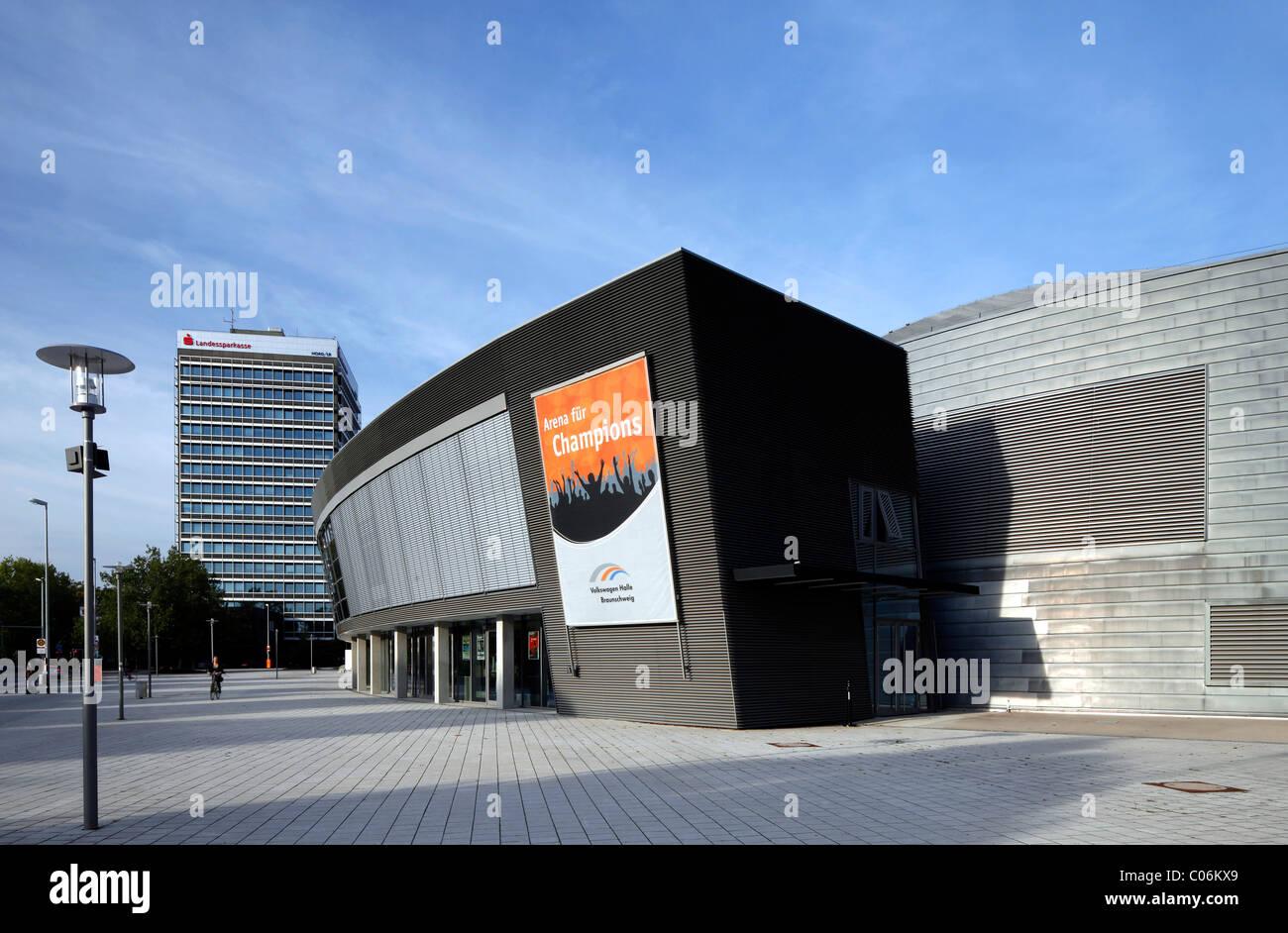 Volkswagen Halle sporting arena, Braunschweig, Brunswick, Lower Saxony, Germany, Europe - Stock Image