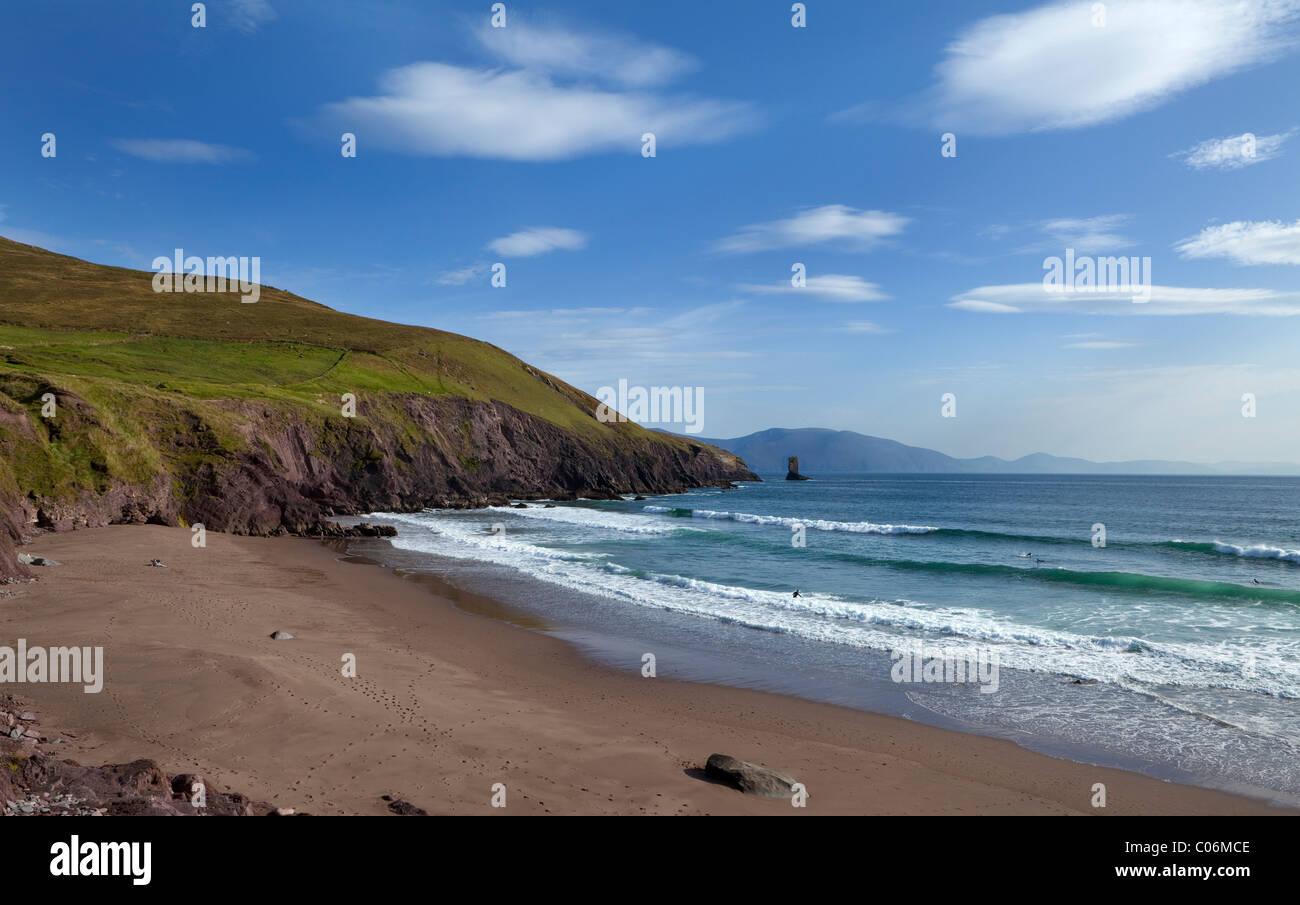Dun Cin Tire Beach, Near Dingle Town, Dingle Peninsula, County Kerry, Ireland - Stock Image