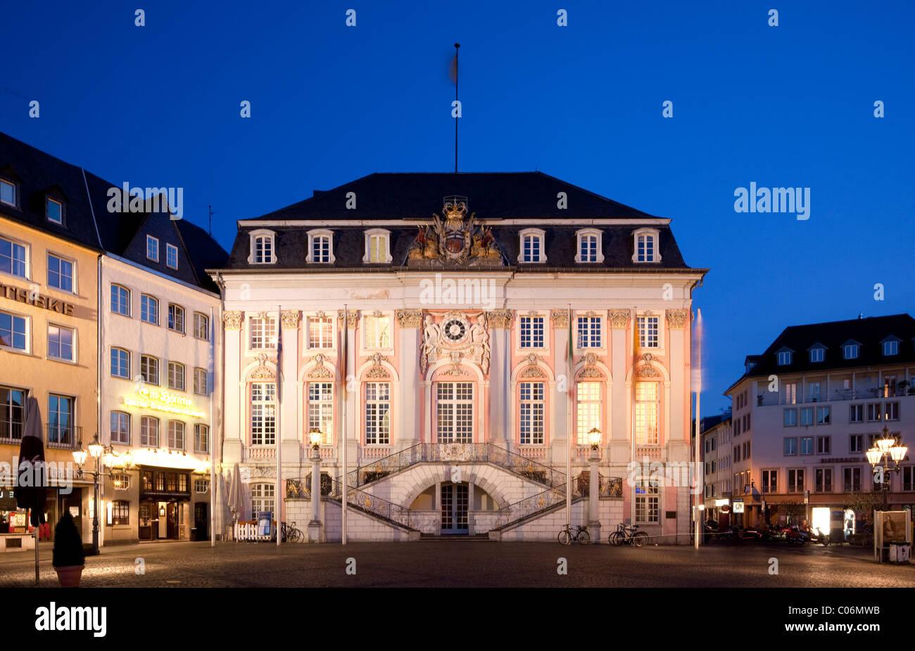 Old Town Hall, Bonn, Rhineland, North Rhine-Westphalia, Germany, Europe - Stock Image