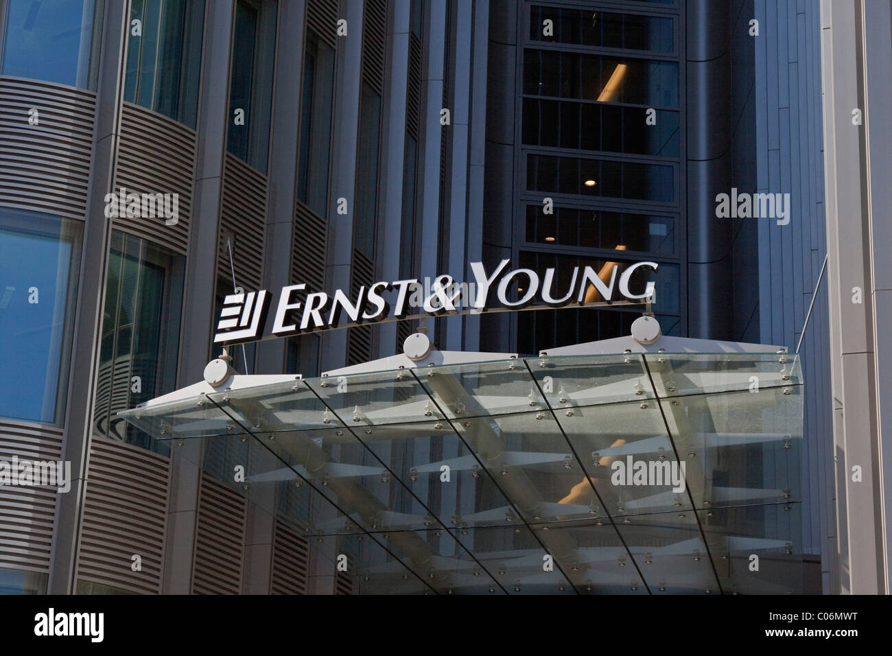 Ernst & Young auditor, accountancy and professional services firm, Berlin office, Friedrichstrasse, Germany, - Stock Image