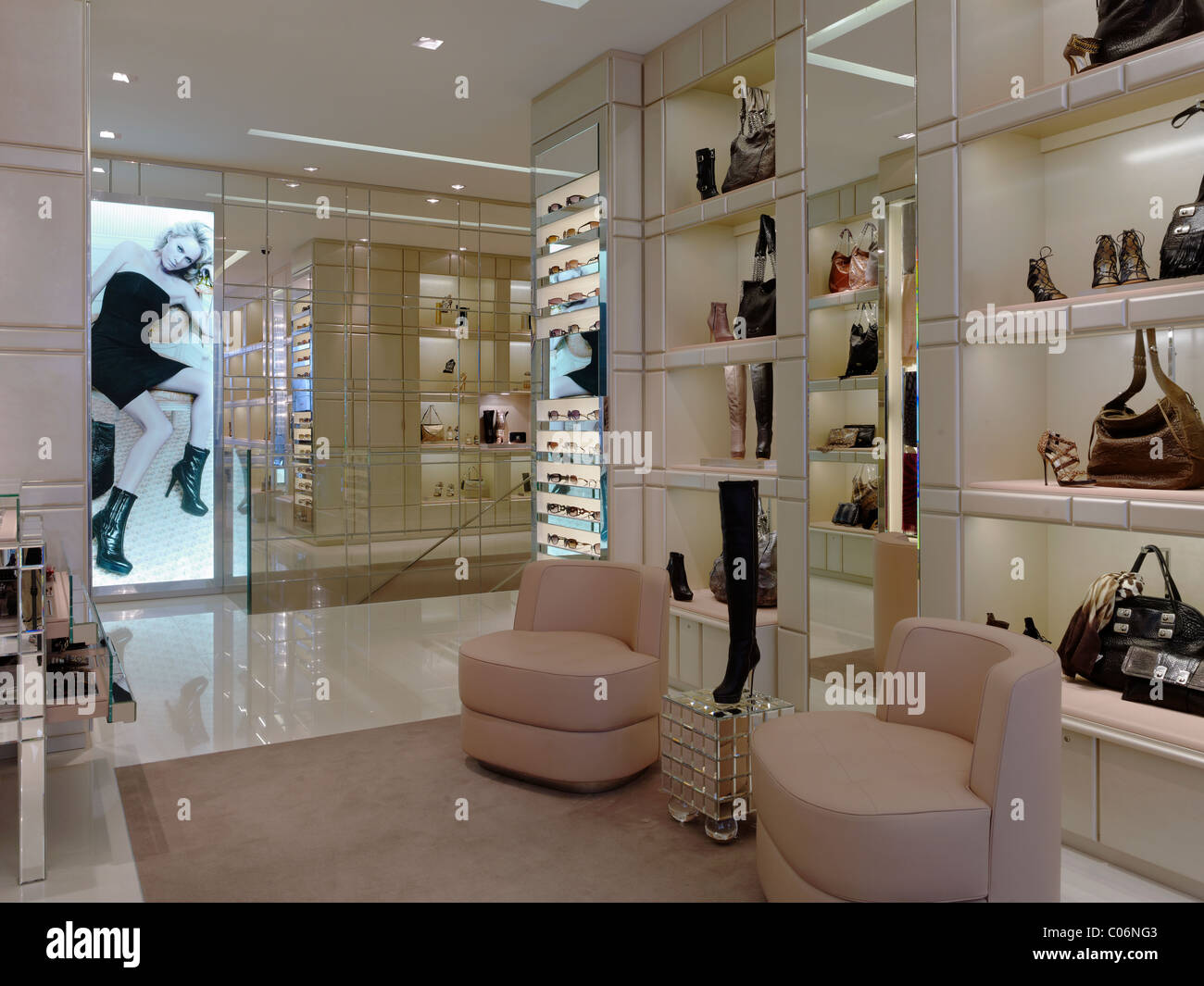 6658316a749 Store Display Of Jimmy Choo Shoes Stock Photos   Store Display Of ...