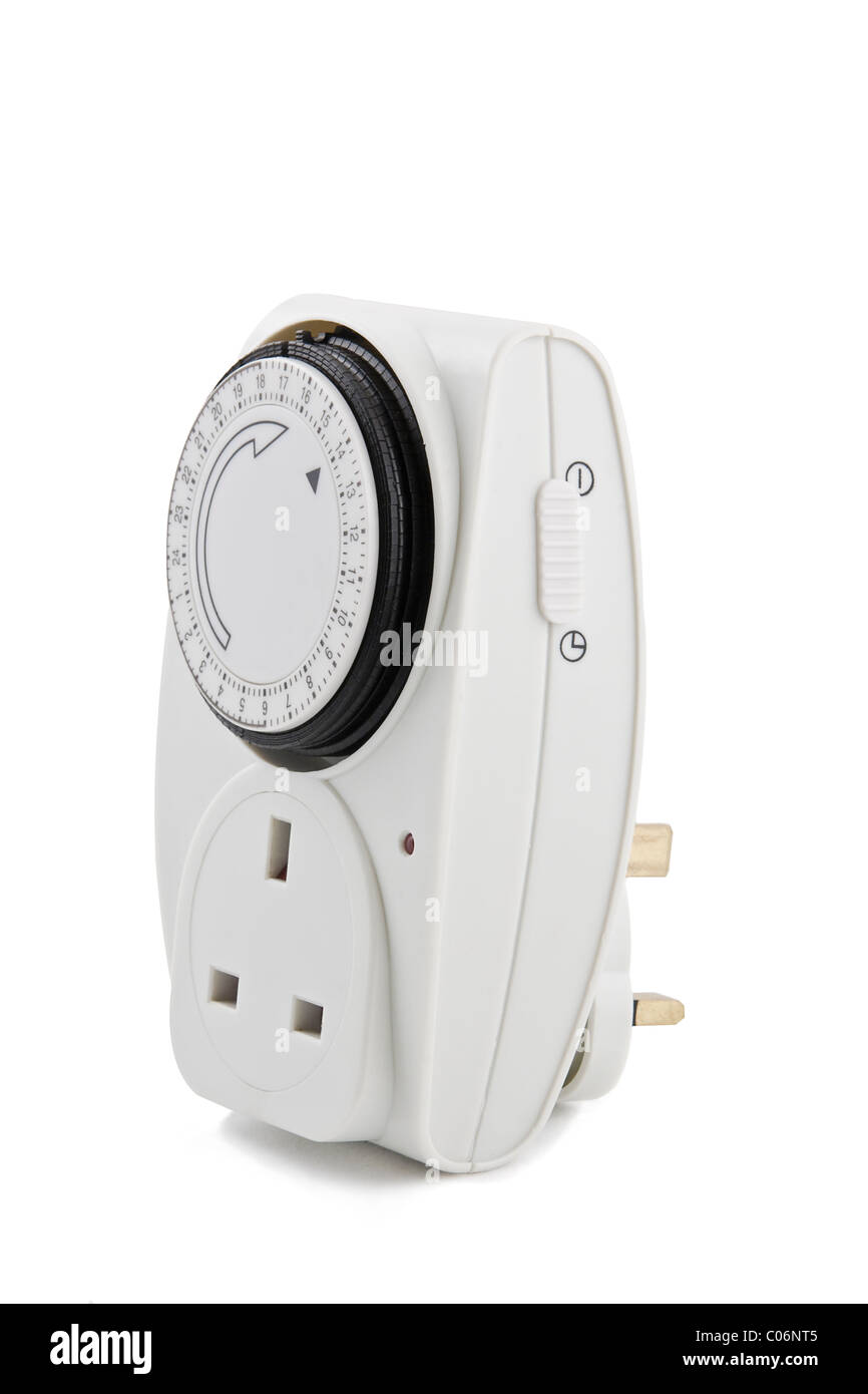 plug-in timer for electrical appliances - Stock Image