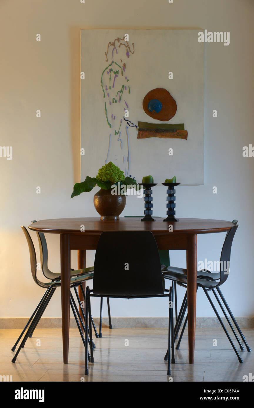 Dining table and chairs - Stock Image
