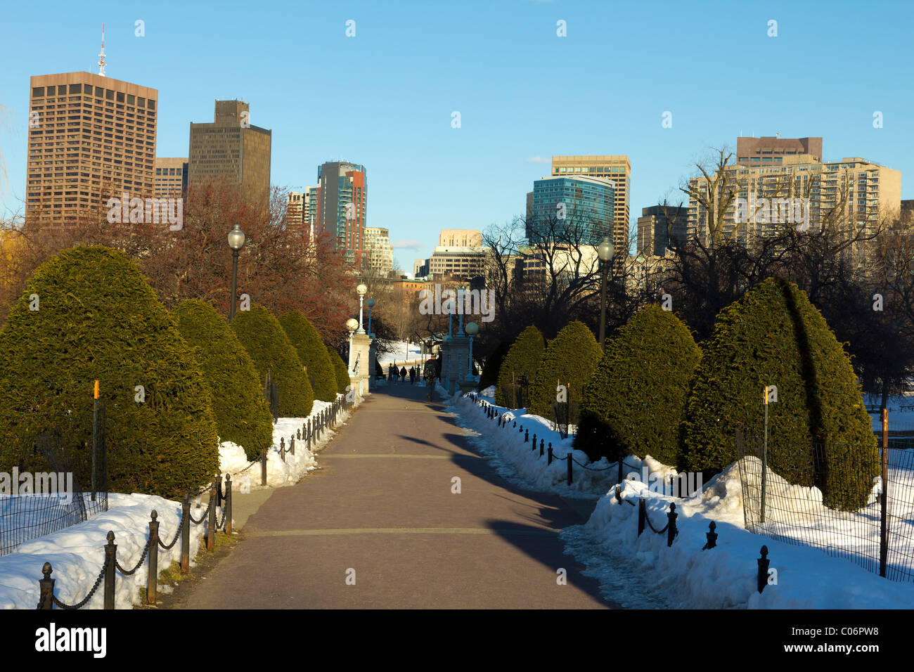 Boston Public Garden Snow Stock Photos & Boston Public Garden Snow ...