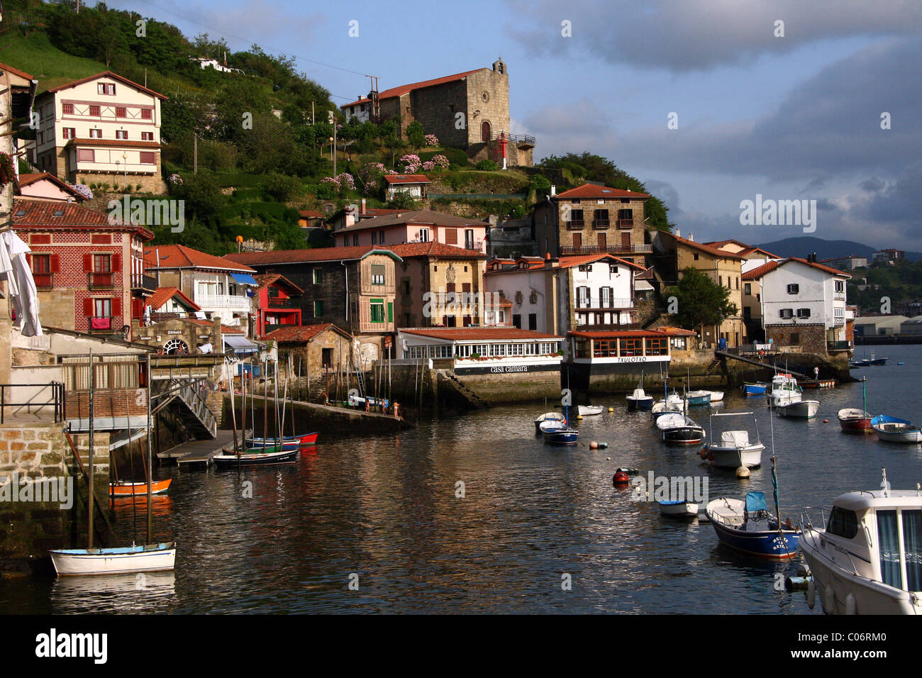 fishing village on the Cantabrian coast, Pasajes de San Juan in Guipuzcoa Basque Country - Stock Image