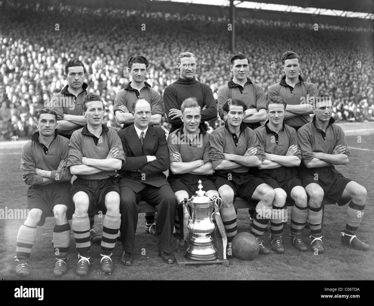 Wolves 1949 FA Cup winning team Wolverhampton Wanderers - Stock Image