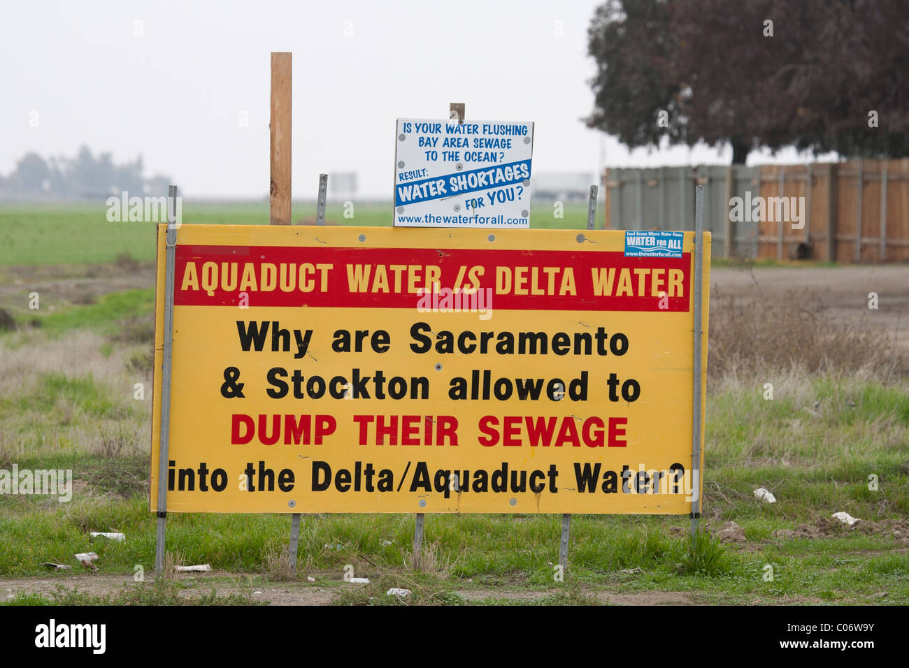 Sign about Environmental Water Pollution - Stock Image