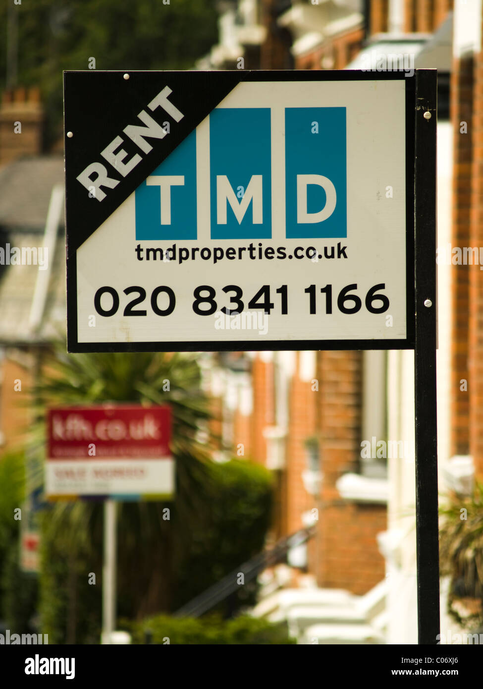 For rent sign in London - Stock Image