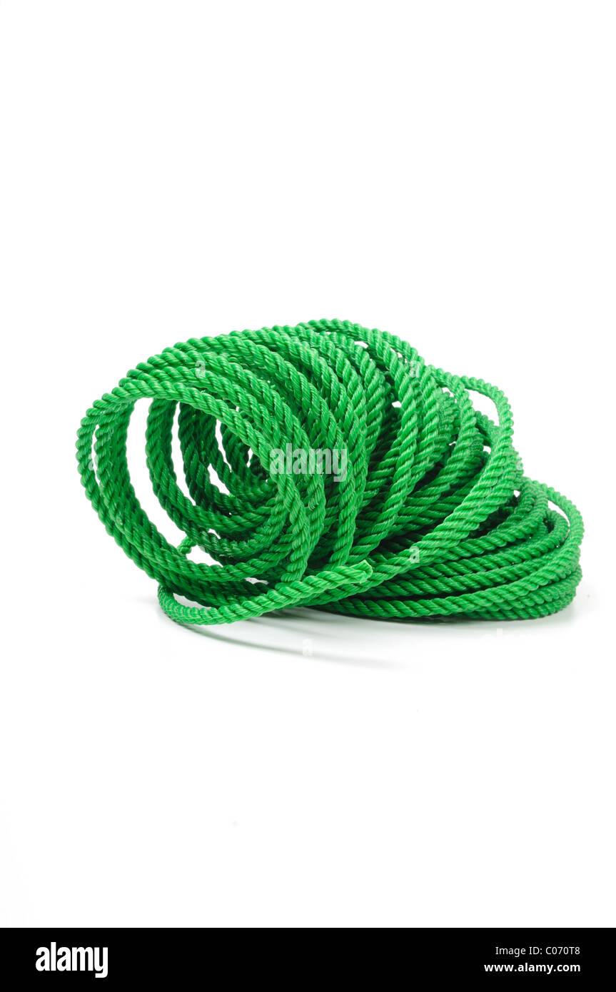 Rope Green 12mtr Length Roll. - Stock Image