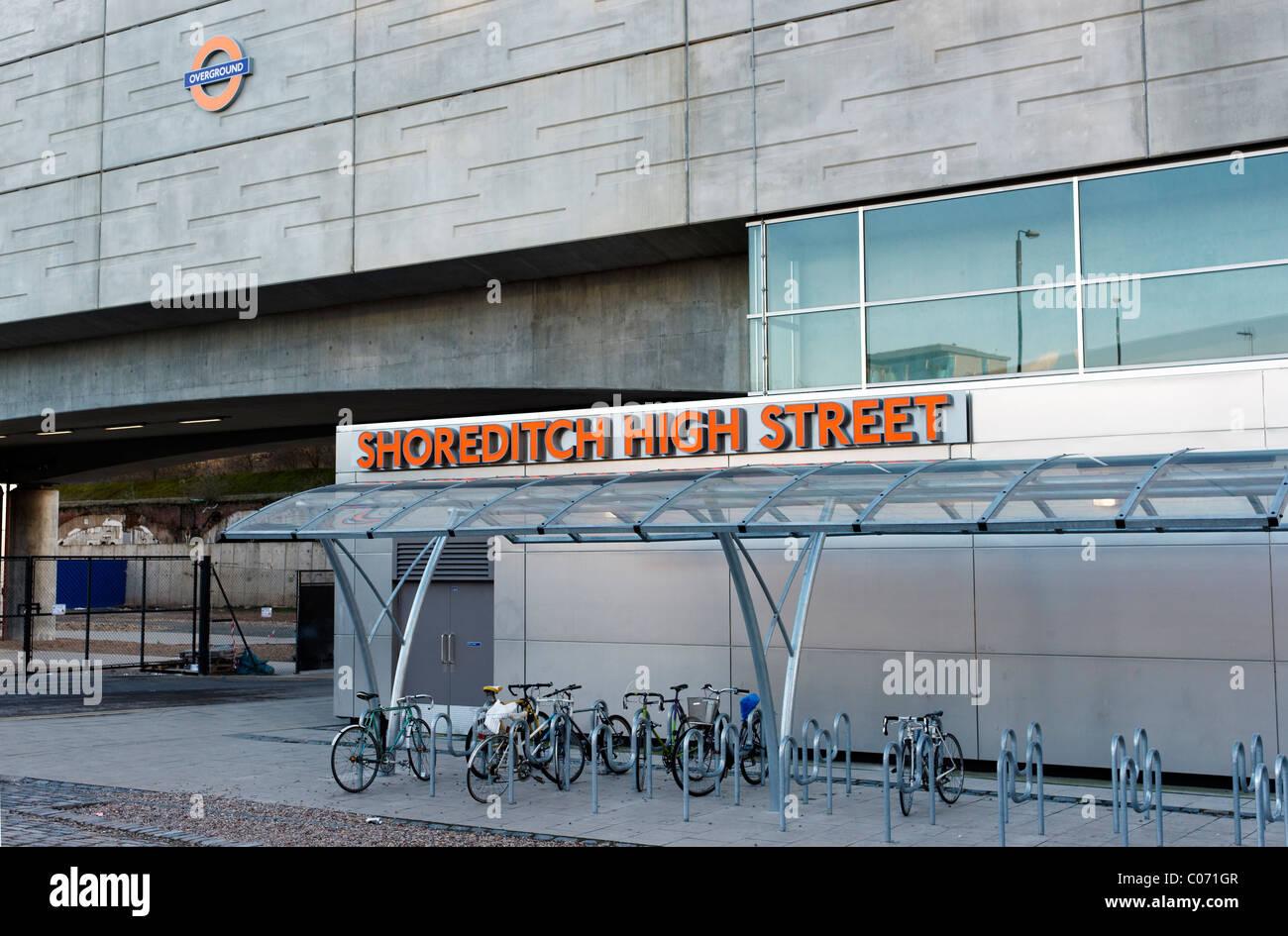 Shoreditch overground train station - Stock Image