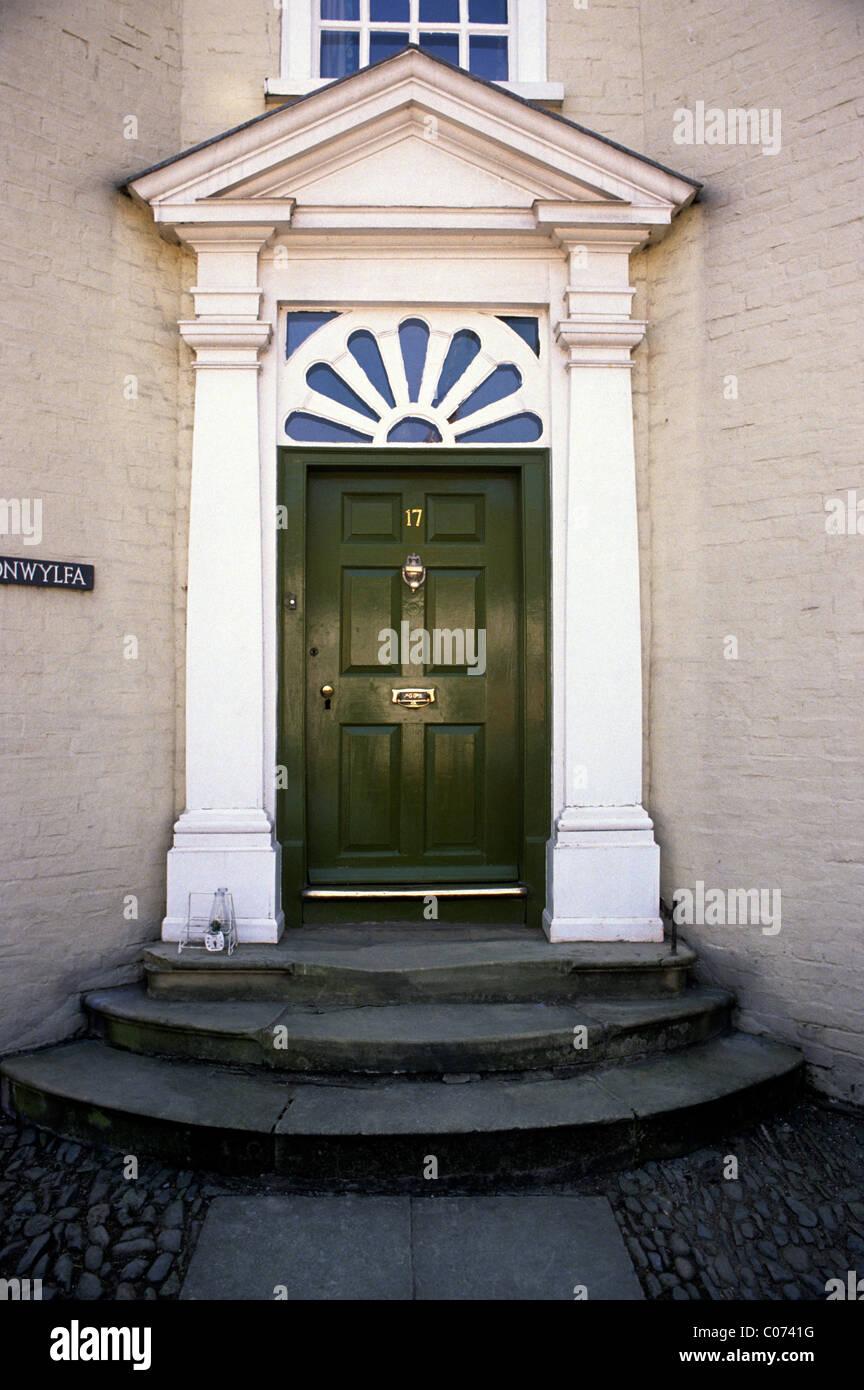 Montgomery Wales Georgian Door Welsh doors doorcase doorcases fanlight fanlights front UK 18th century architecture doorway & Montgomery Wales Georgian Door Welsh doors doorcase doorcases ...