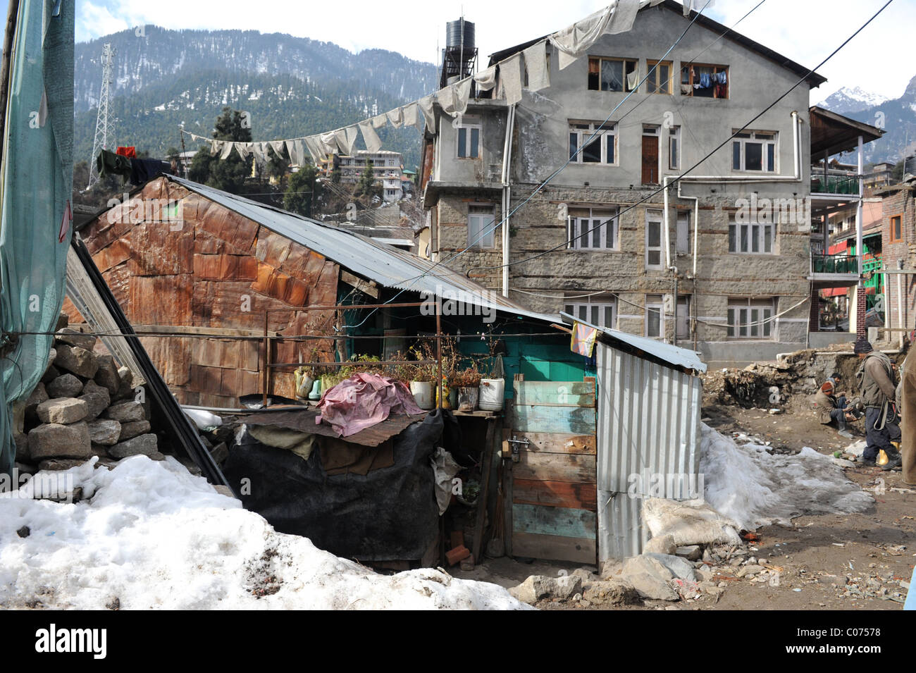 Town of Manali, India - Stock Image