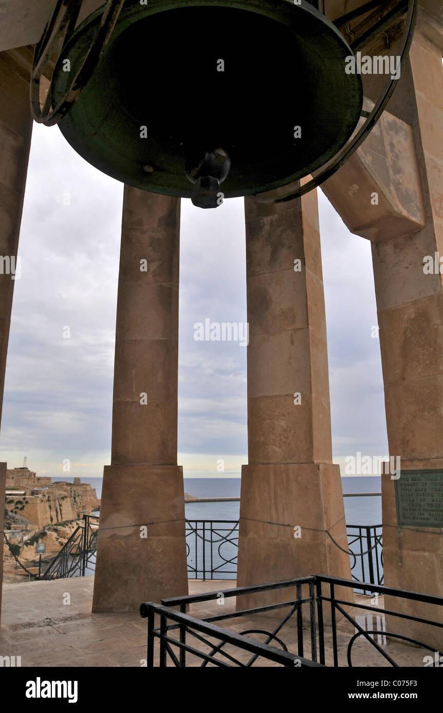 Siege Bell Tower, La Valletta, Malta. Lower Barracca Gardens St ...