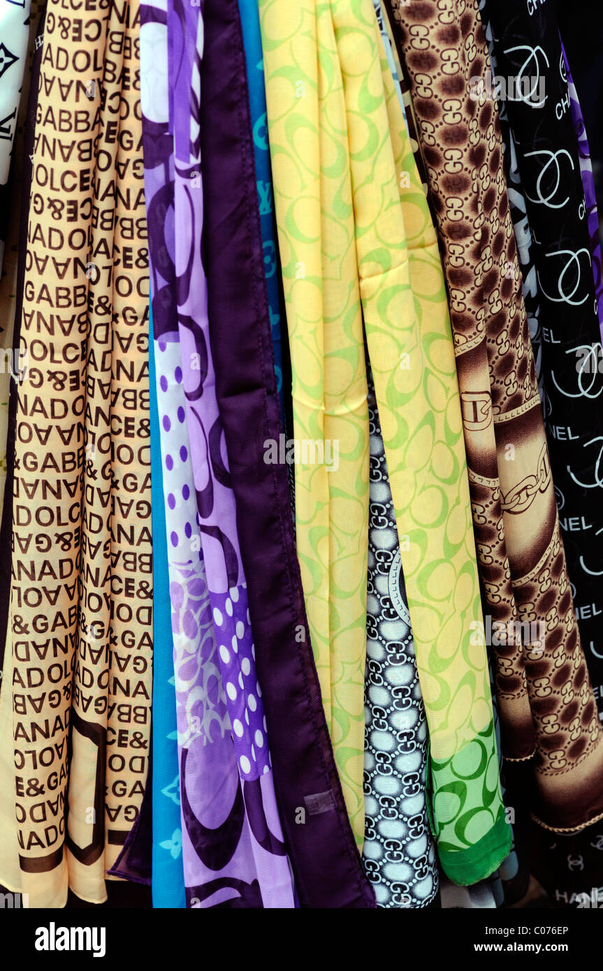 fb2e76a442822 fake designer silk scarves pirate pirated luxury goods on sale stall  petaling street chinatown kuala lumpur