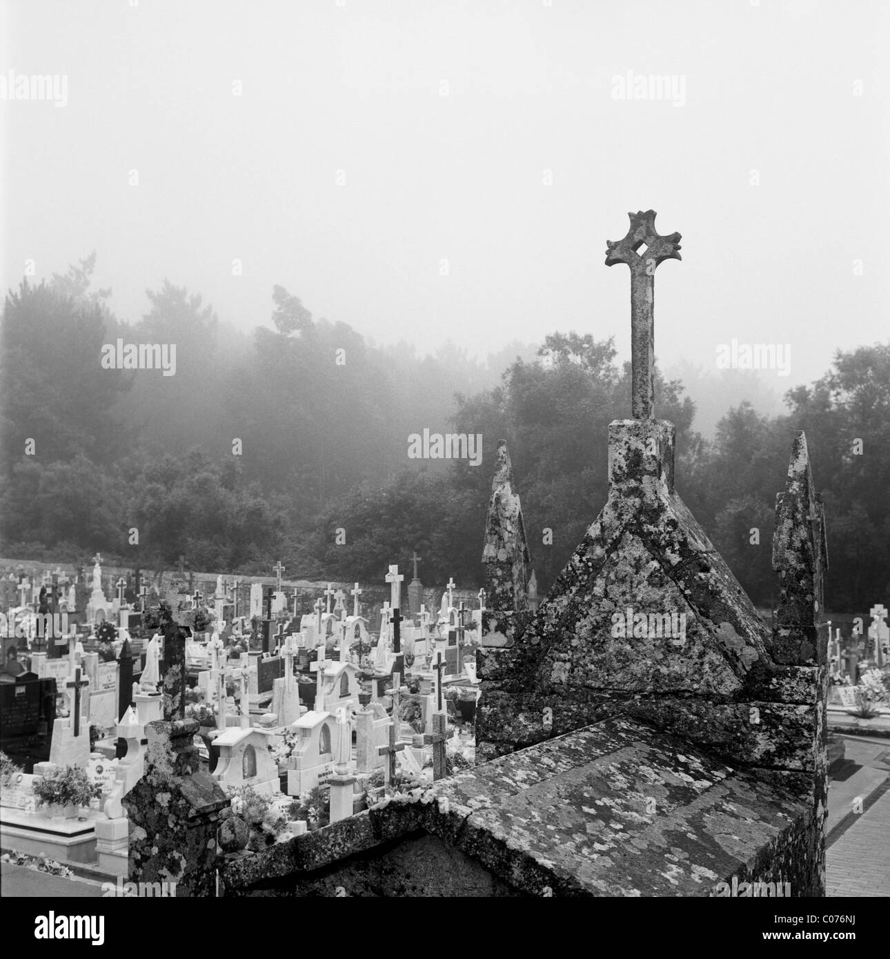 A cemetery in Chavez, Portugal, Europe - Stock Image
