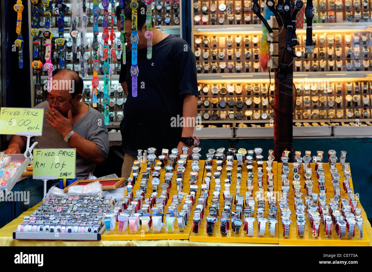 2b861c647ab1 fake designer pirate pirated watches luxury goods on sale stall petaling  street chinatown kuala lumpur malaysia