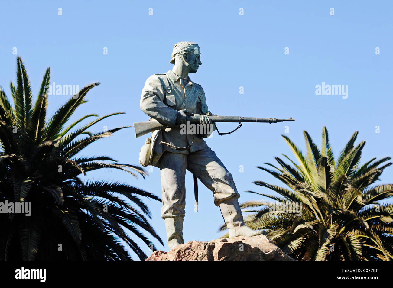 Marine monument to commemorate the naval soldiers in the fight against the Herero and Nama, Swakopmund, Erongo region, - Stock Image