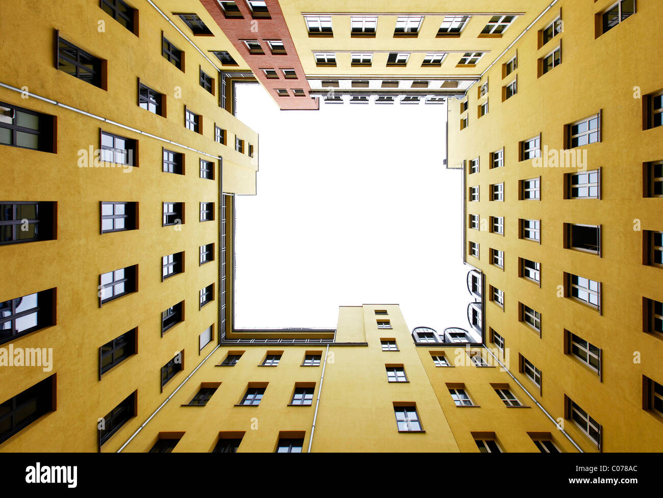 Courtyard of a city block in Mitte district, Berlin, Germany, Europe Stock Photo