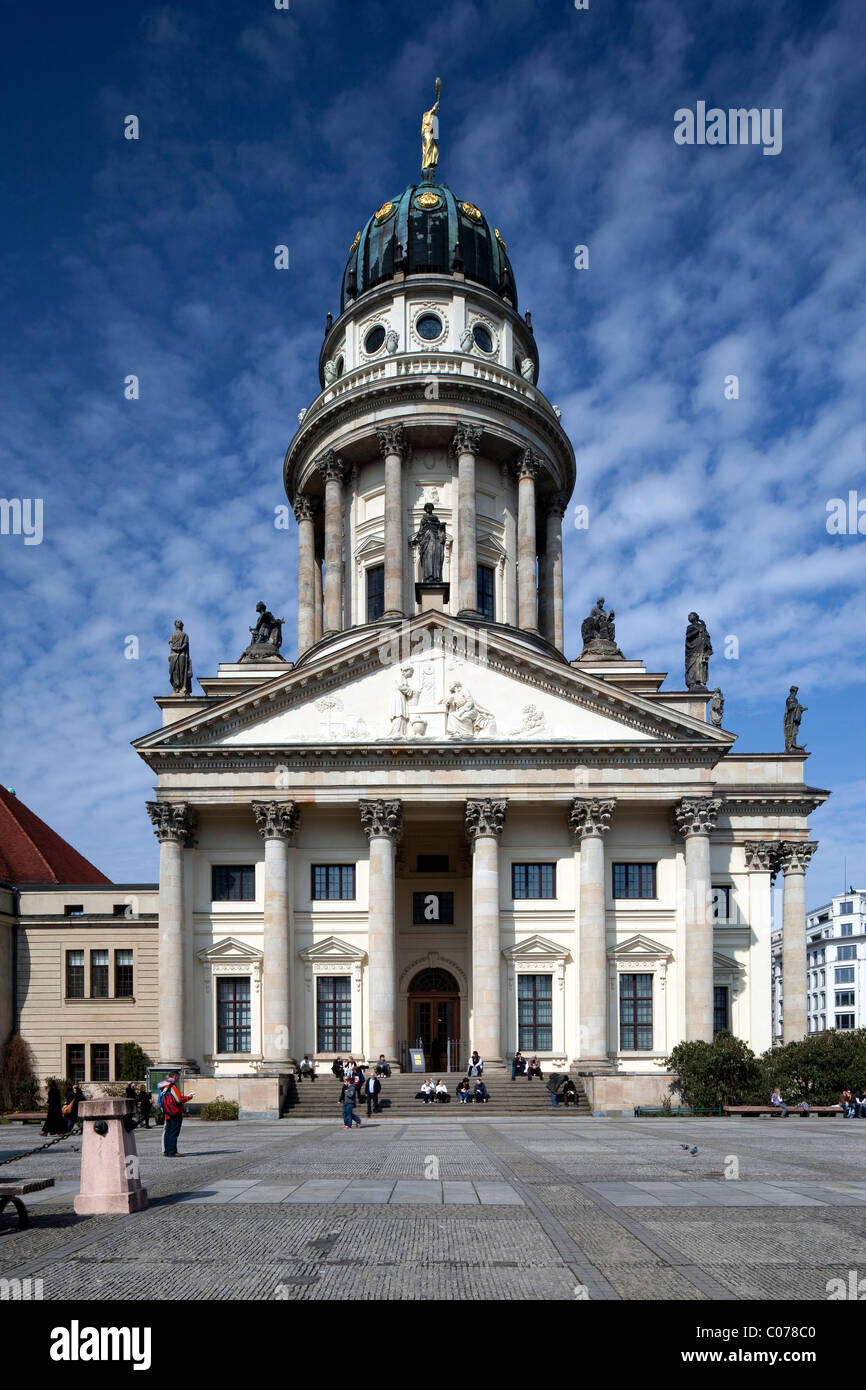 Franzoesischer Dom cathedral on Gendarmenmarkt square, Mitte district, Berlin, Germany, Europe - Stock Image