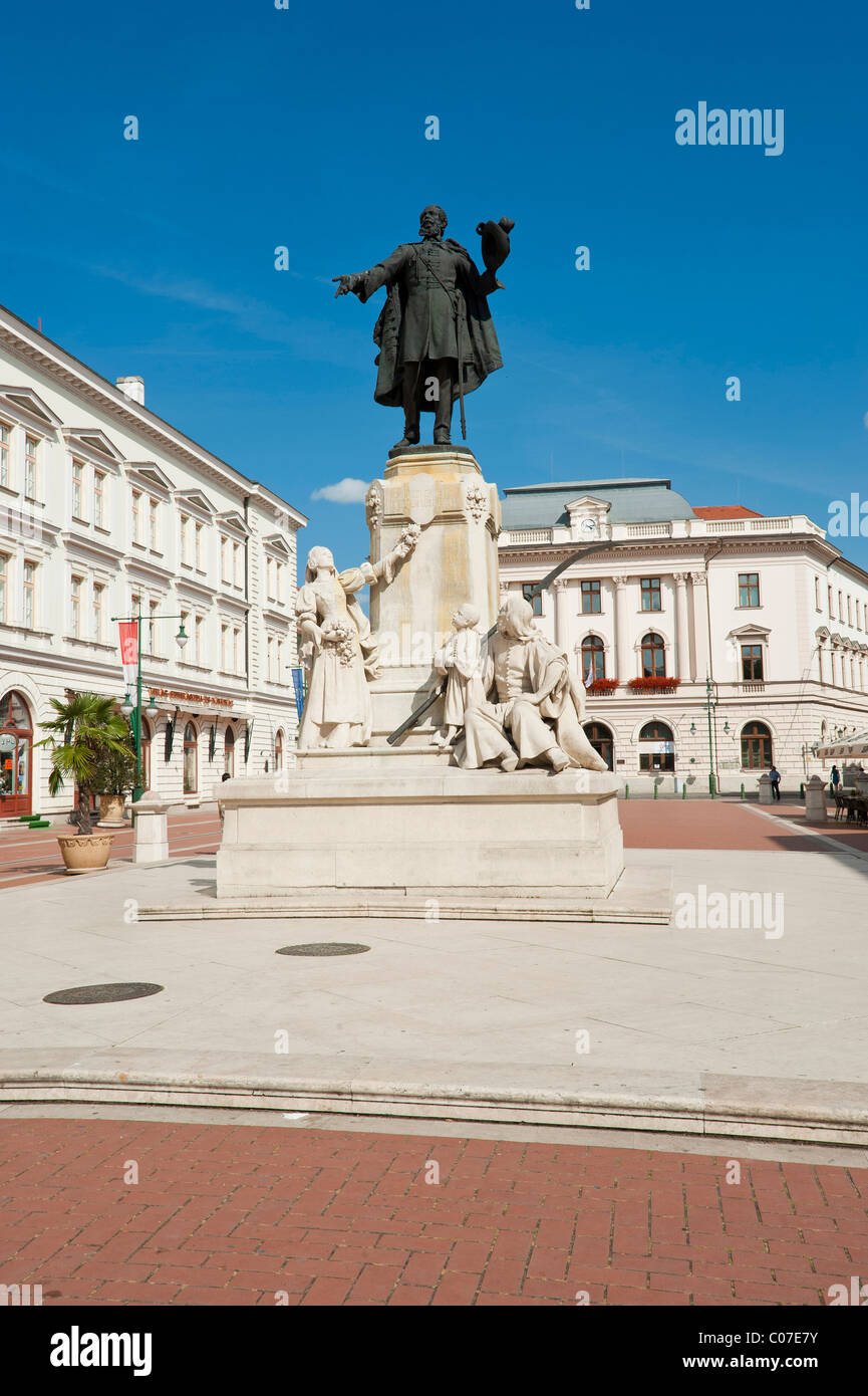 Lajos Kosuth, Klauzal ter, Klaus square, Szeged, Hungary, Europe Stock Photo
