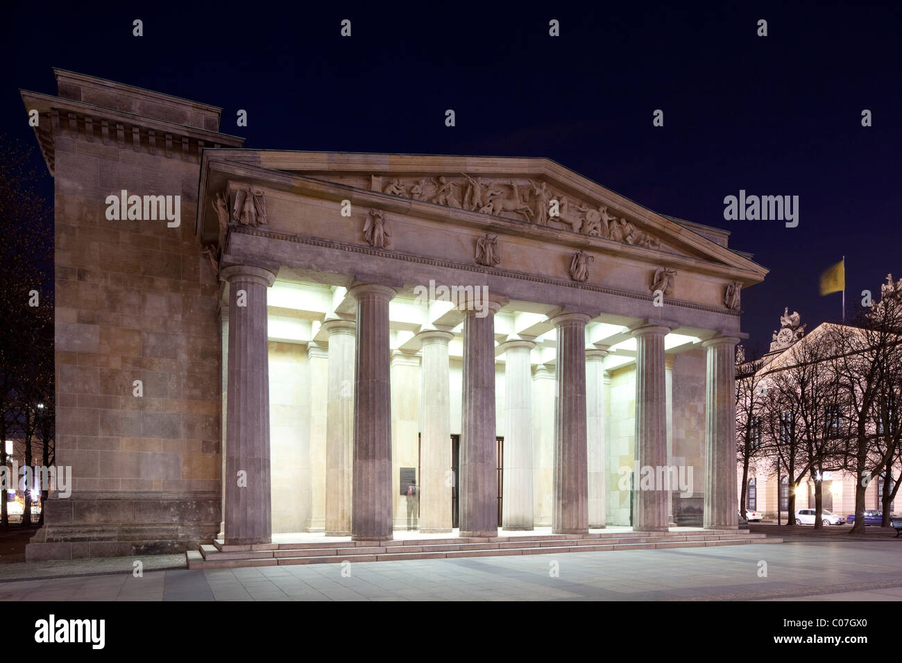 Neue Wache, Central Memorial of the Federal Republic of Germany for the Victims of War and Tyranny, Unter den Linden - Stock Image