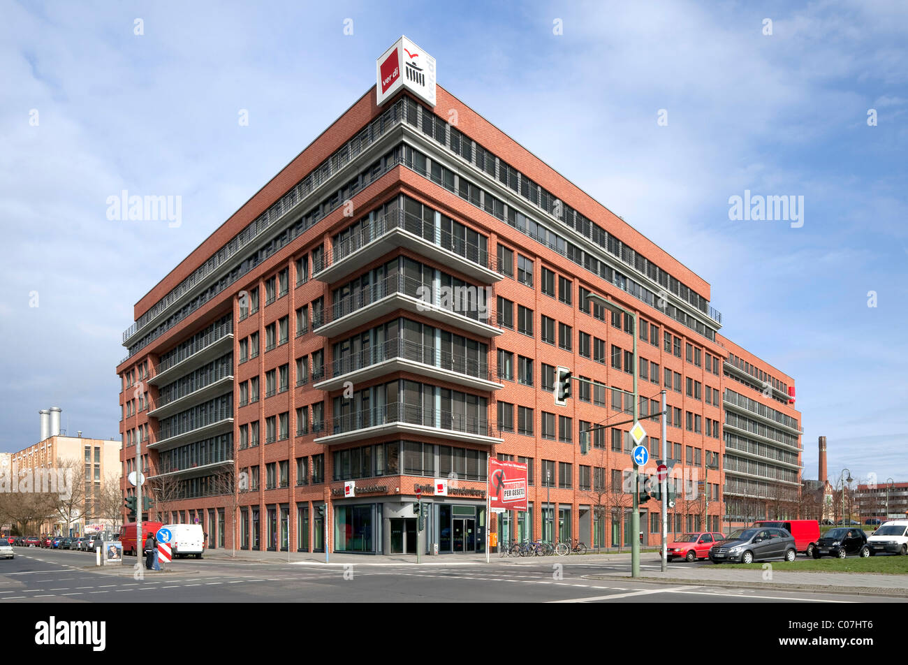 Ver.di Trade Union headquarters, Kreuzberg, Berlin, Germany, Europe - Stock Image