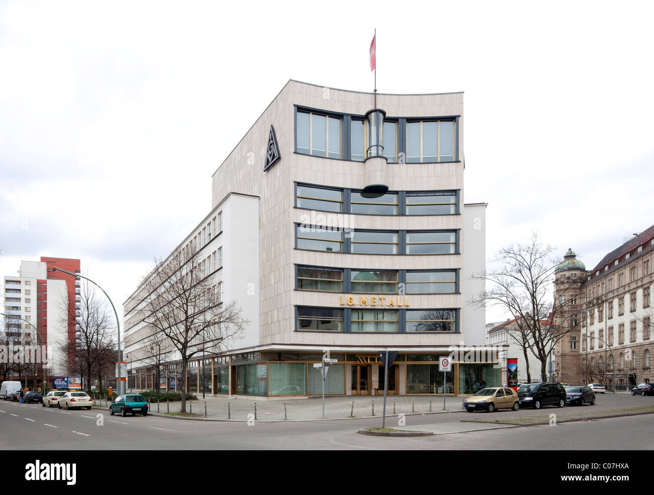 House of the German Metalworkers' Federation, IG Metall, trade union headquarters, Kreuzberg, Berlin, Germany, - Stock Image