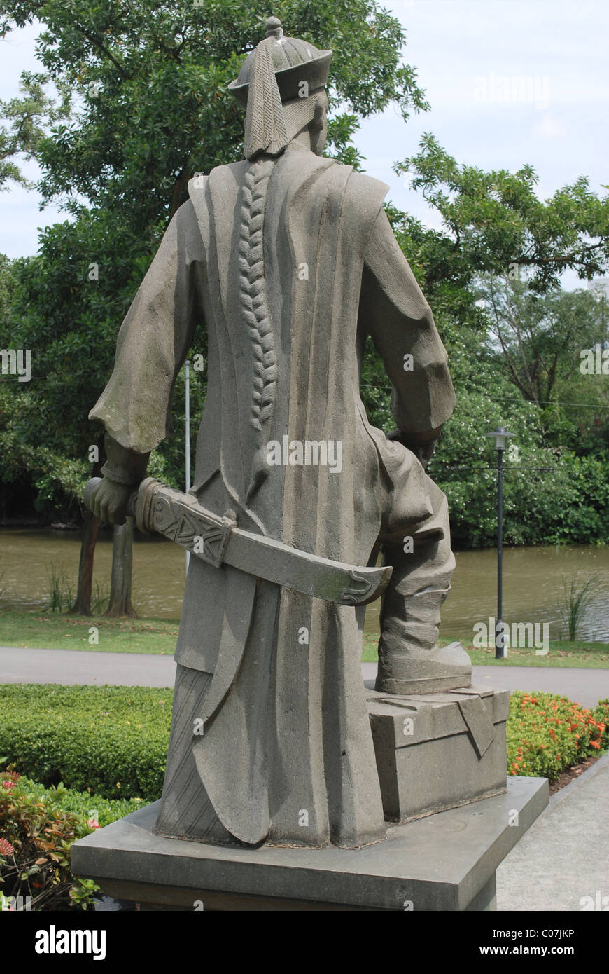 Merveilleux Stone Statue At Chinese Garden, Singapore Stock Photo ...