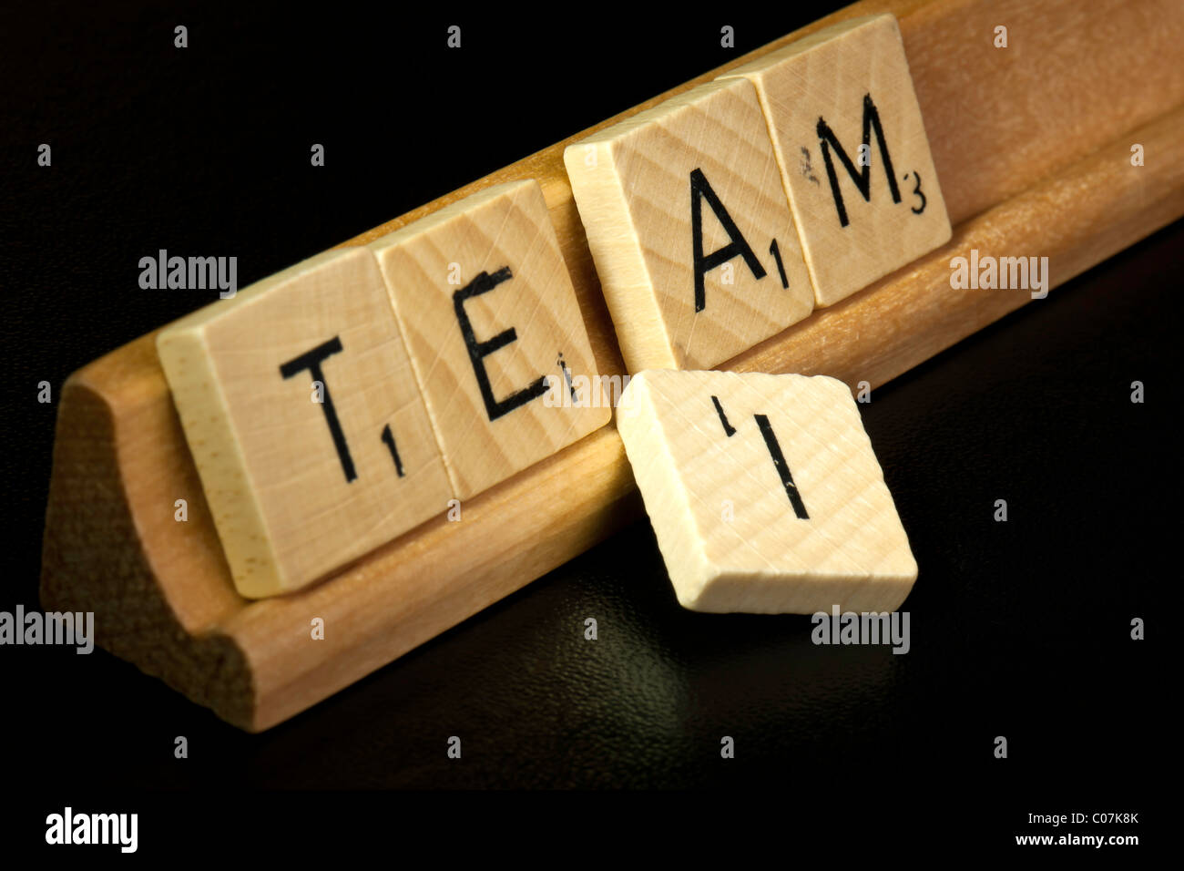 No 'I' in 'Team'. - Stock Image