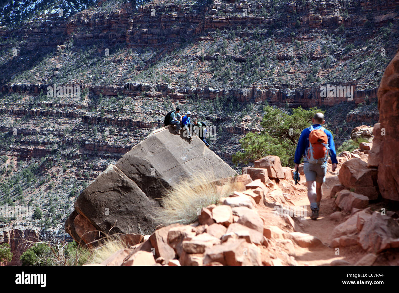 Grand Canyon walkers - Stock Image