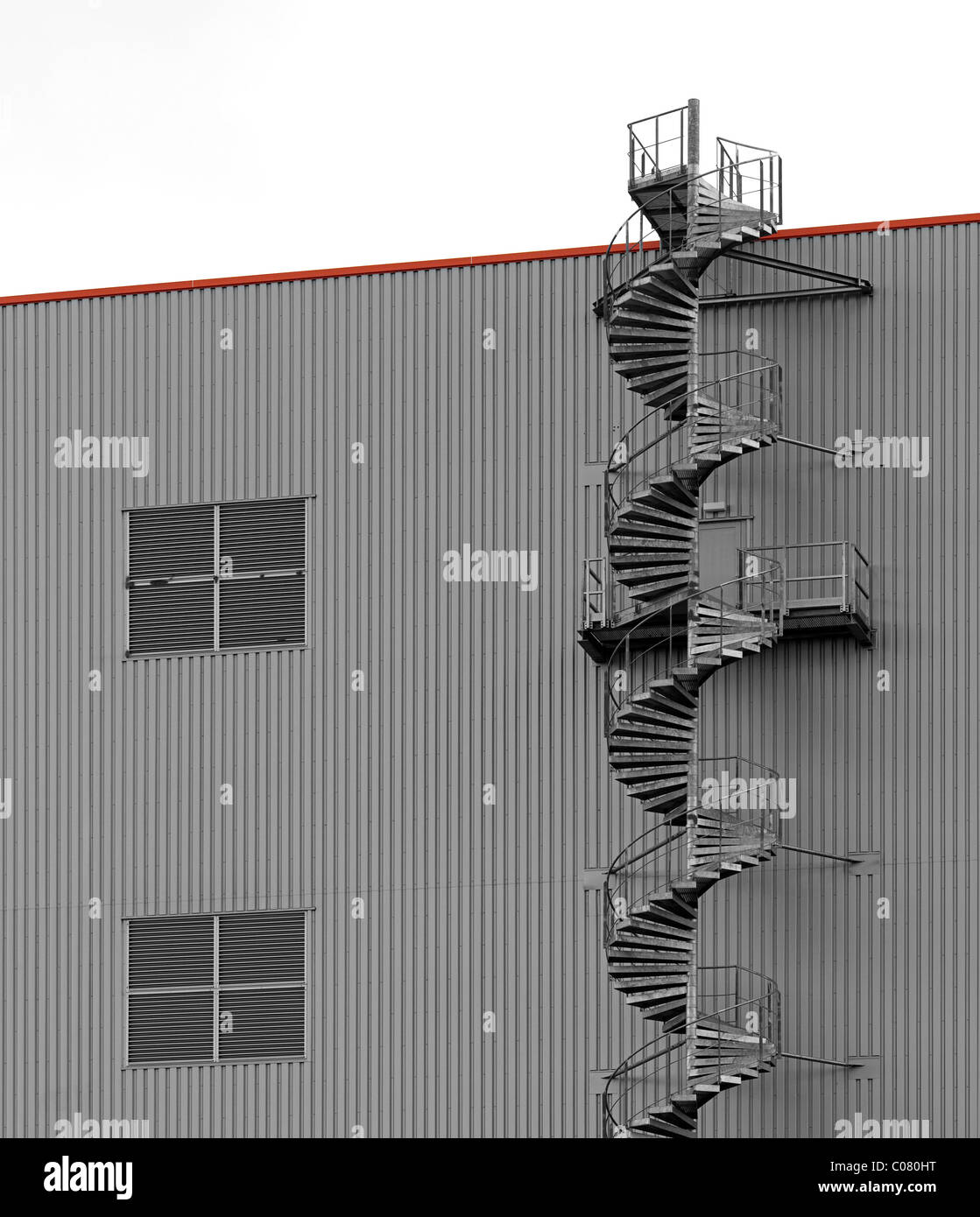 Spiral Staircase, Modern Warehouse   Stock Image
