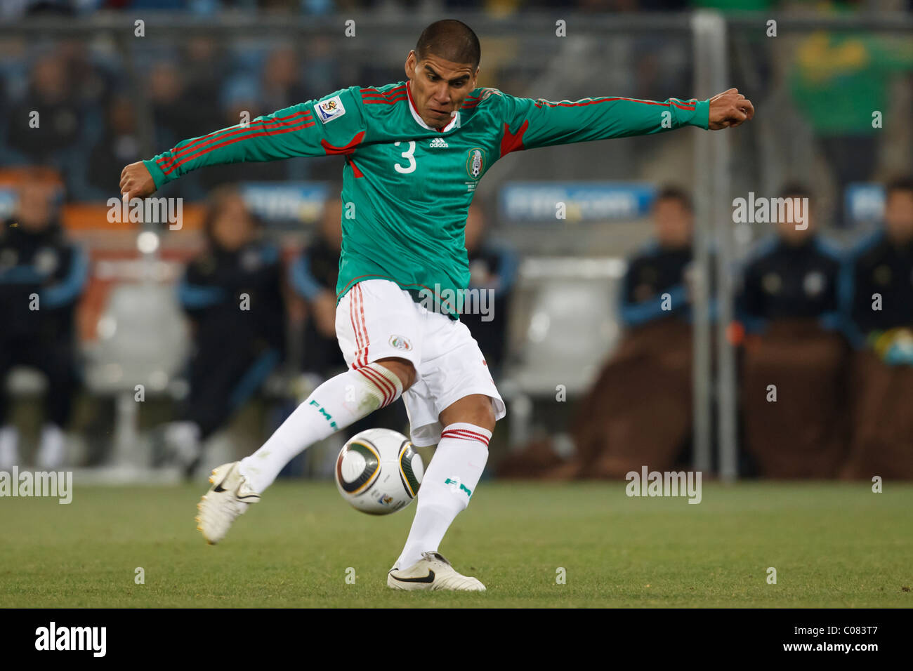 ec5b0de68 Carlos Salcido of Mexico kicks the ball during a 2010 FIFA World Cup round  of 16