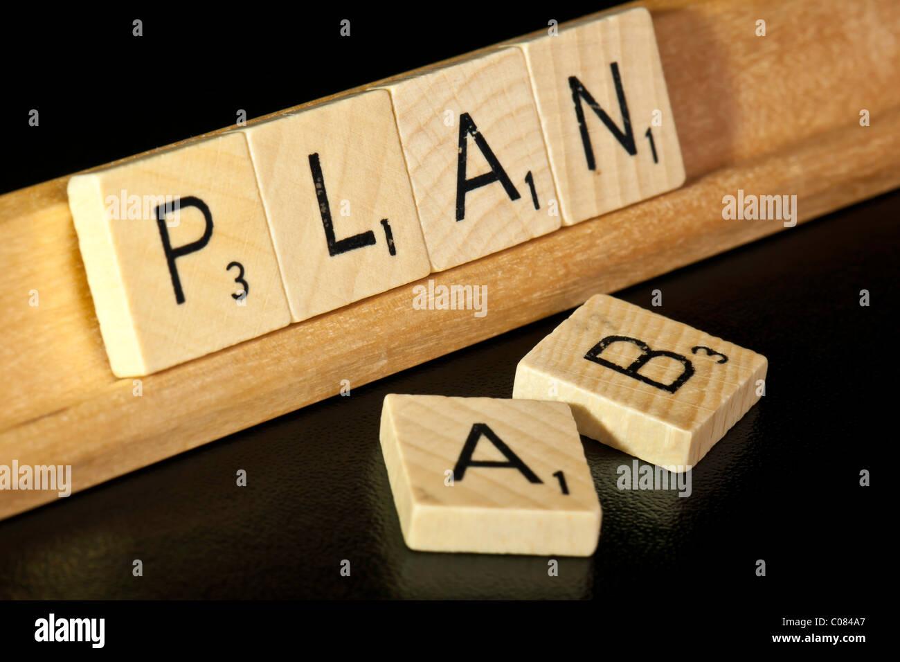 Plan A or Plan B? - Stock Image